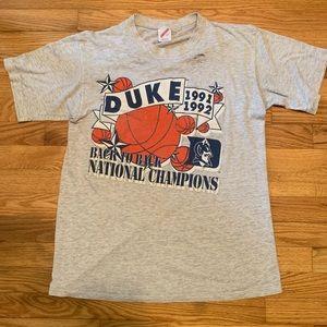 VTG 1991 1992 Duke Blue Devils National Champions